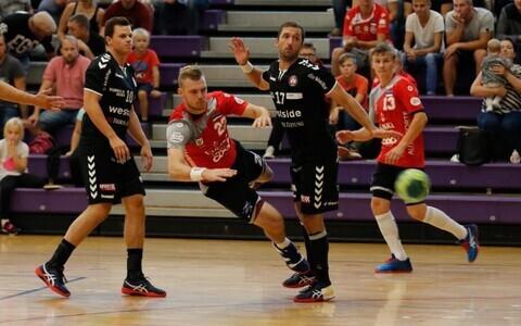 Hetk EHF Cupi mängust Põlva Serviti – BSV Bern, viskel Henri Hiiend