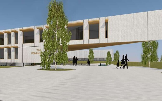 A render of the new Türi Basic School.