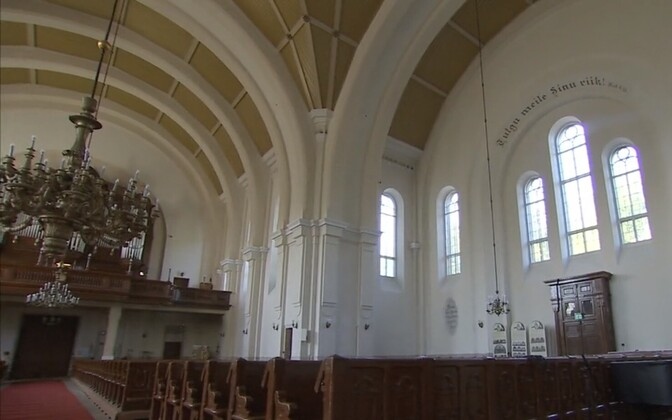 Interior of the Lutheran Kaarli Church in Tallinn.