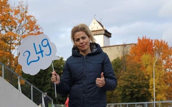 Софья Хомякова баллотировалась в Нарвское горсобрание в списке Центристской партии.