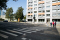 Пешеходные переходы перед школами.