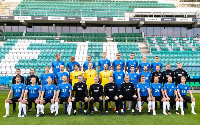 Eesti jalgpallikoondise pressikonverents ja uus särk