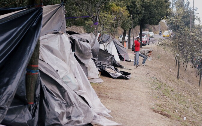 Venezuela põgenike laager Ecuadoris.