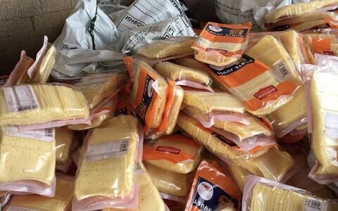 Сыр из Эстонии в Ивангороде.