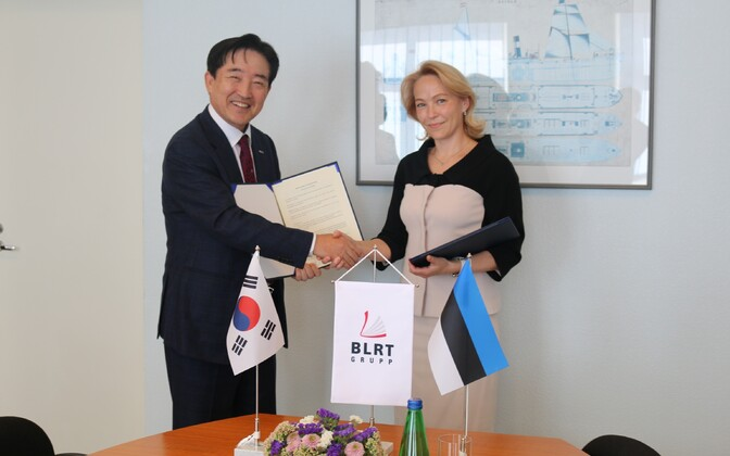 Председатель правления Panasia Роберт Су-Тай Ли и председатель правления BLRT Grupp Вероника Ивановская.