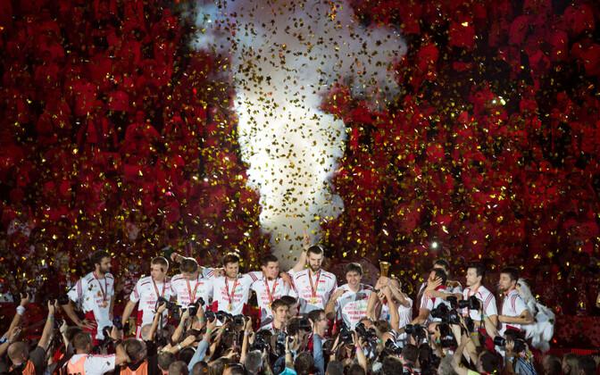 Poola võrkpallikoondis tuli 2014. aastal maailmameistriks