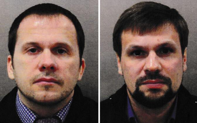 Briti võimude hinnangul Salisbury rünnaku korraldanud Aleksandr Petrov (vasakul) ja Ruslan Boširov.