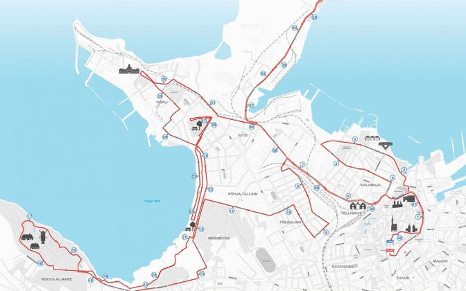 Map of the affected areas on Sunday's full marathon. Most of the affected areas and routes during the shorter three races are contained within this area.