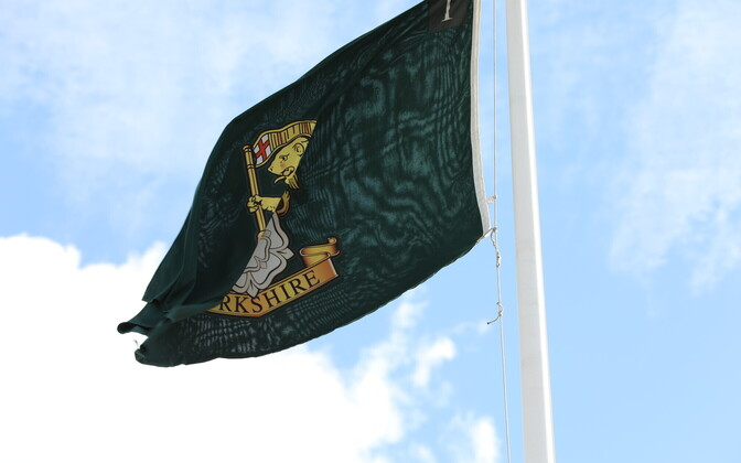 Флаг Йоркширского полка в Тапа.