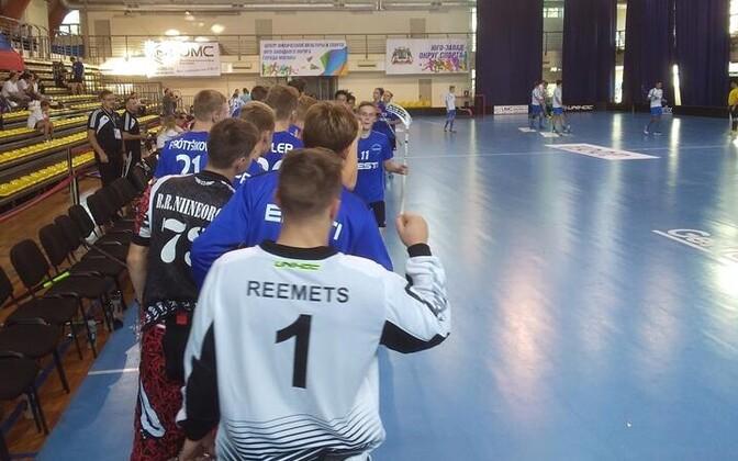 Eesti U-19 saalihokikoondis.