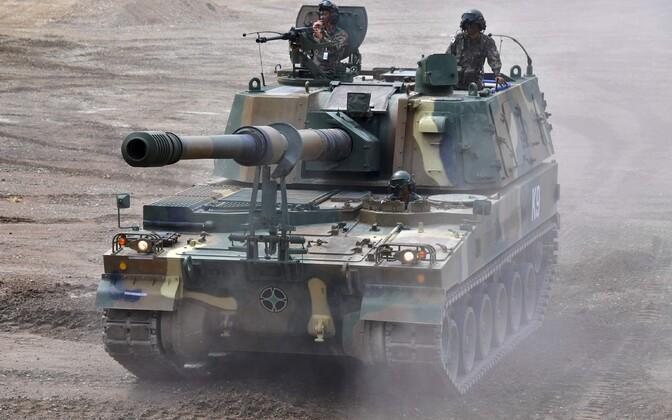 Lõuna-Korea liikursuurtükk K9 Thunder.