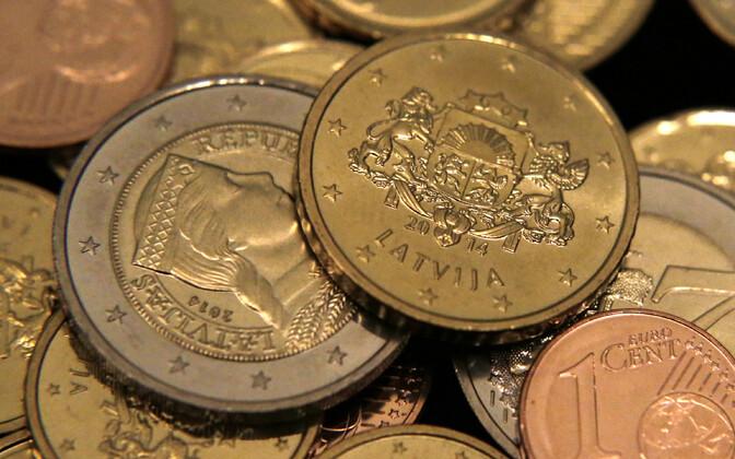 Läti euromündid.