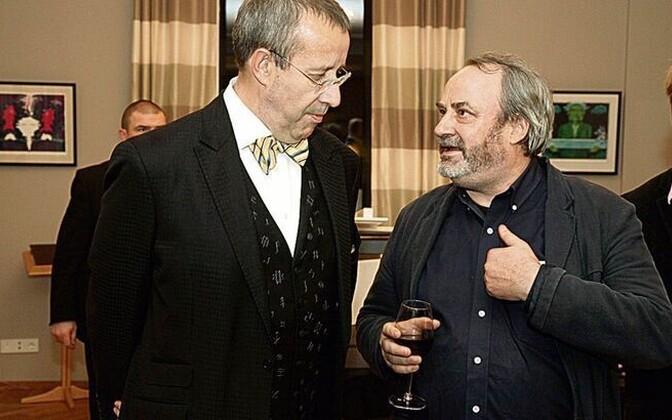 Jukka Mallinen koos president Toomas Hendrik Ilvesega
