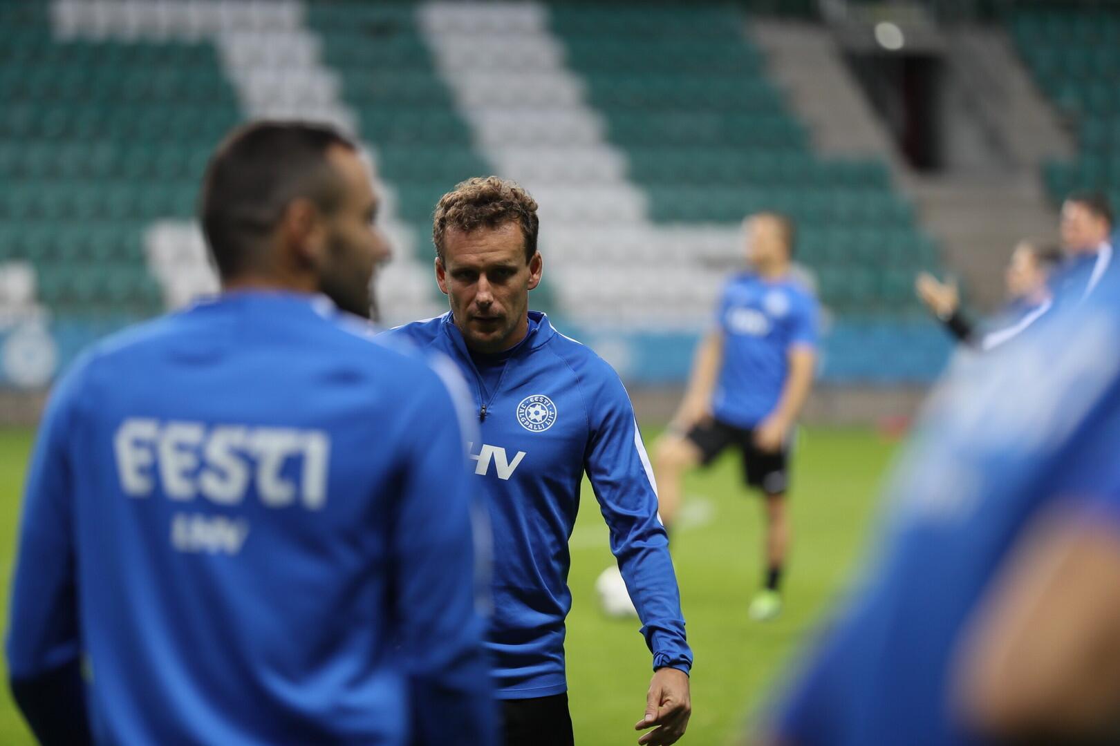 483d7dc7352 ... Eesti jalgpallikoondise viimane treening enne UEFA Rahvuste liiga  esimest kohtumist ...