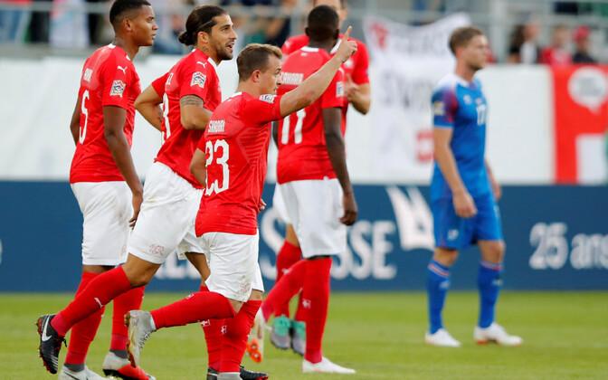 Šveitsi jalgpallikoondis lõi Islandile kuus vastuseta jäänud väravat