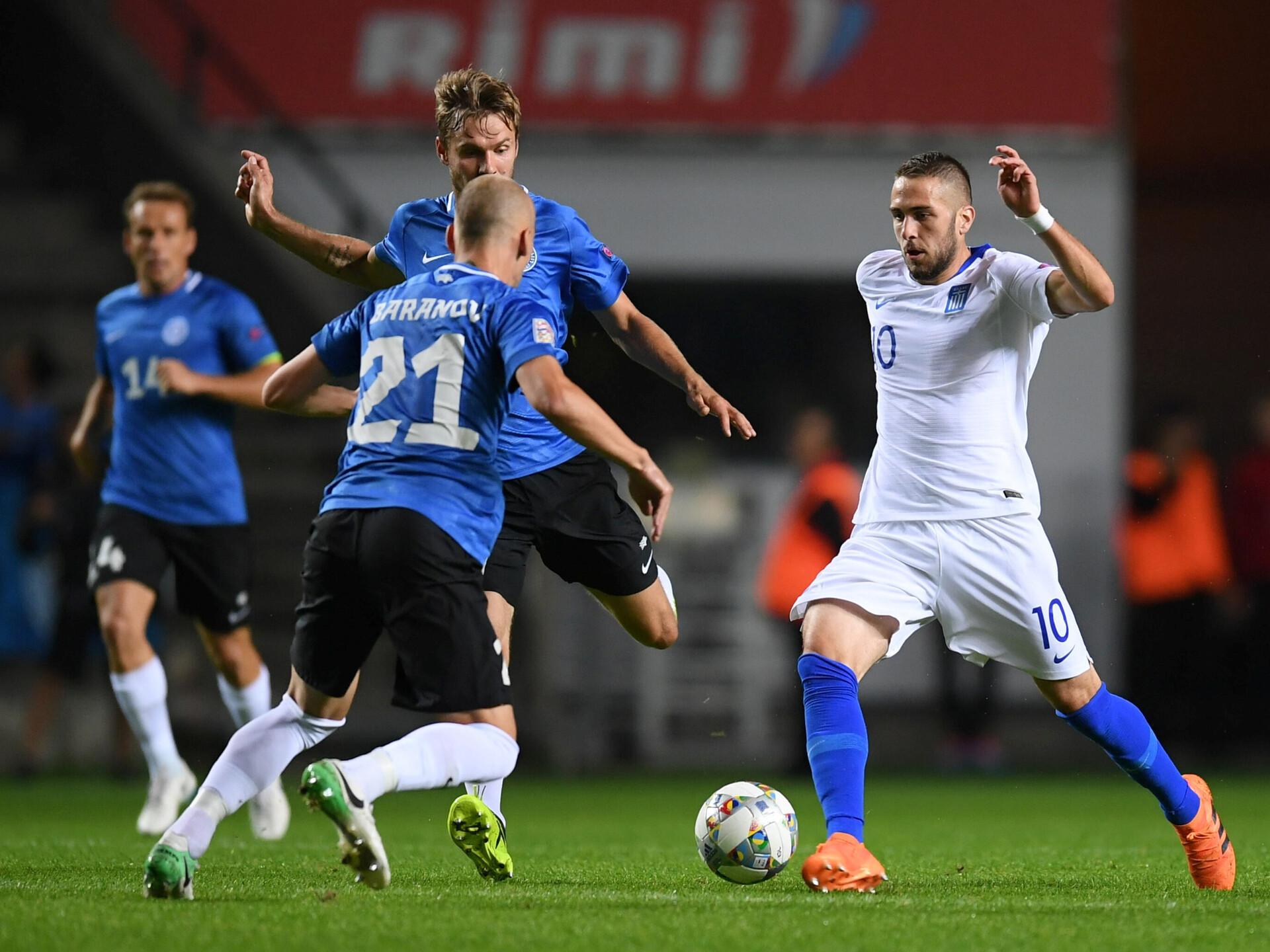 07210ed8734 FOTOD   Eesti koondis alustas Rahvuste liigat napi kaotusega Kreekale   Jalgpalli  Eesti koondis   ERR