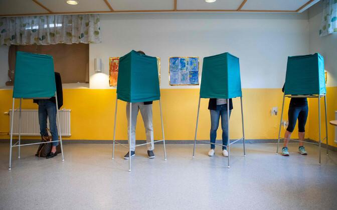 Valimisjaoskond Stockholmis.