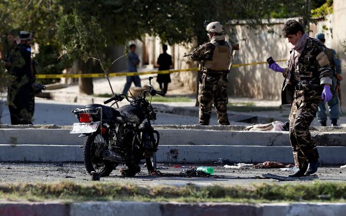 Террорист-смертник совершил атаку на мотоцикле.