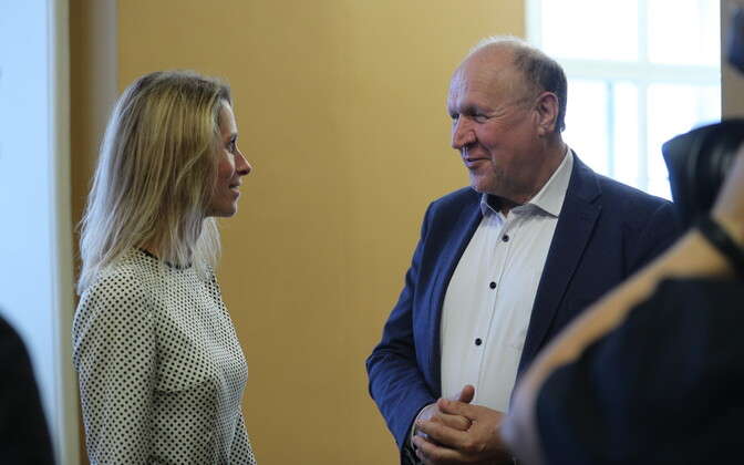 Reform chairwoman Kaja Kallas and EKRE chairman Mart Helme.