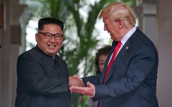 Kim Jong-un ja Donald Trump Singapuris 12. juunil.