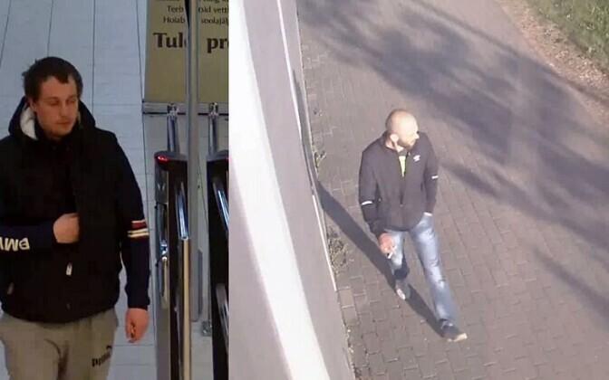 Слева - подозреваемый в ограблении на улице Келлука, справа - подозреваемый в ограблении у управы Ласнамяэ.