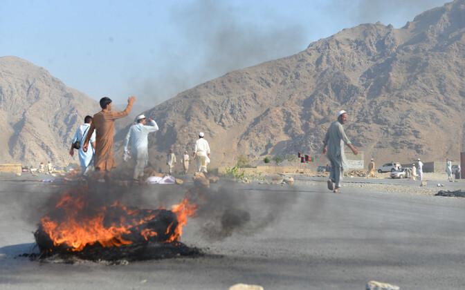 Pärast terrorirünnakut Nangarhari provintsis.