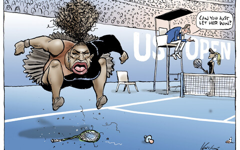 Mark Knighti karikatuur Serena Williamsist avaldati väljaandes Herald Sun