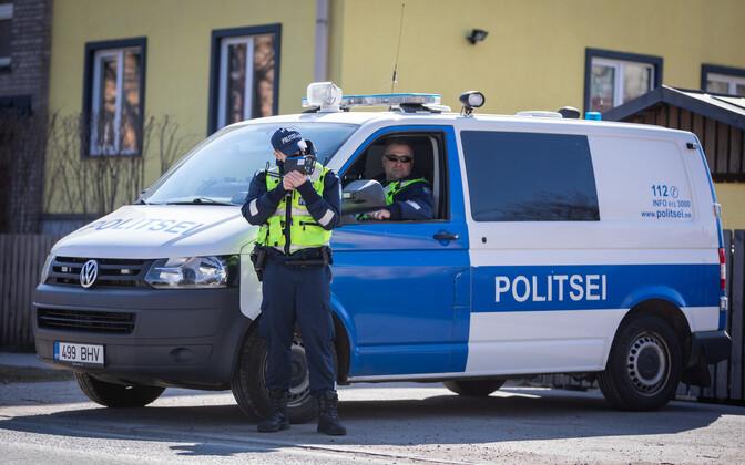 Politseibuss. Illustreeriv foto.