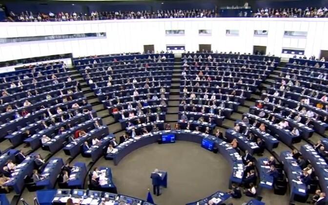 European Parliament chamber in Strasbourg.