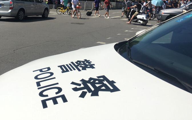 Hiina politsei auto.