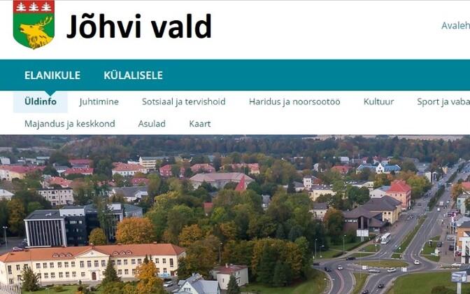 Сайт Йыхви пока доступен только на эстонском языке.