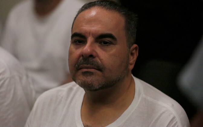 El Salvadori ekspresident Elias Antonio Saca kohtusaalis.