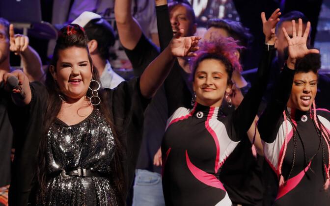 Netta Barzilaid tervitati Tel Avivis pärast Eurovisiooni võitu