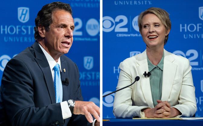 Andrew Cuomo ja Cynthia Nixon debati ajal.