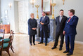 Peaminister Jüri Ratas Vilniuses kolleegidega töölõuna ootel