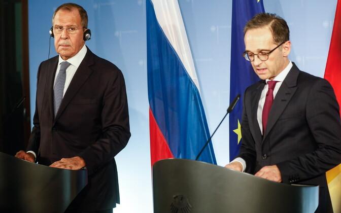 Venemaa välisminister Sergei Lavrov ja Saksamaa välisminister Heiko Maas.