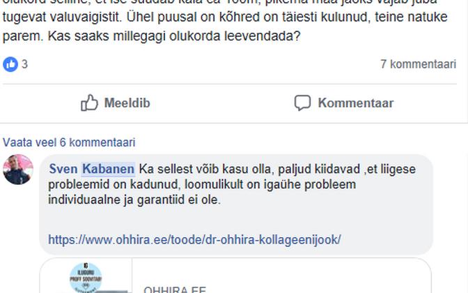 Vestluskatke nüüdseks suletud Facebooki kinnisest MMS-i grupist.