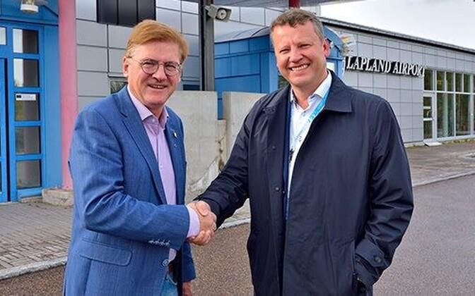 Gällivare omavalitsusjuht Lars Alriksson ja Toomas Uibo