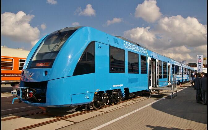 Поезд на водородном топливе.