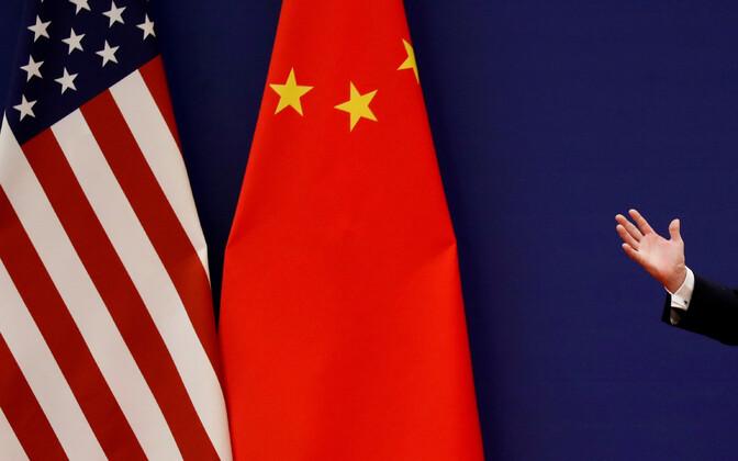 USA ja Hiina lipp.
