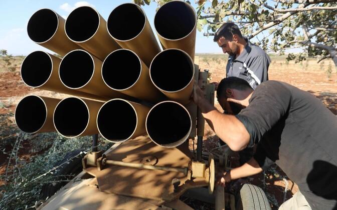 Сирийские повстанцы в провинции Хама.