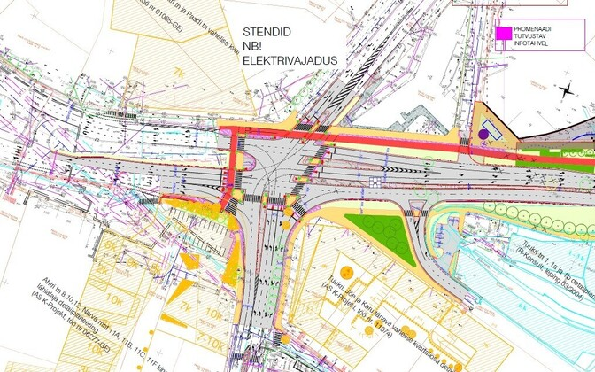 Решение для перекрестка улиц Ахтри, Йыэ и Лоотси.