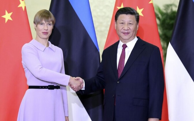 Керсти Кальюлайд и Си Цзиньпин.