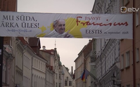 Pope Francis will visit Estonia  on 25 September 2018.