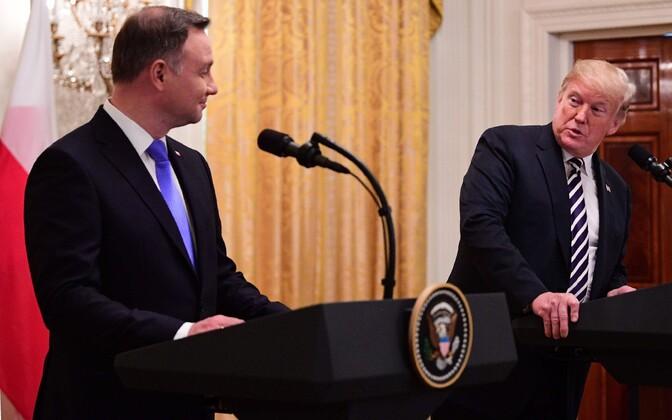 Poola president Andrzej Duda ja USA president Donald Trump.