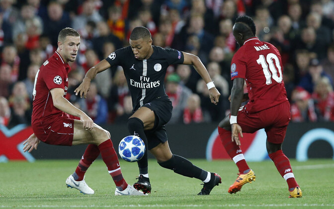 Kylian Mbappe tagas PSG-le Meistrite liiga avakohtumises Liverpooliga viigi