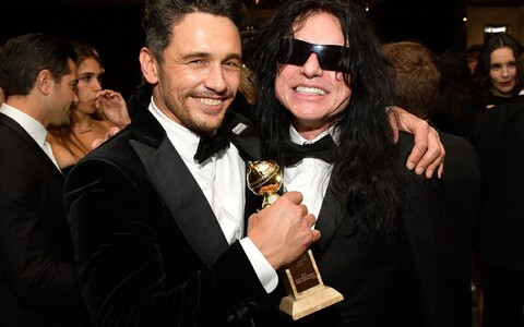 "Tommy Wiseau koos James Francoga, kes tegi ""The Roomi"" valmimisest mängufilmi ""The Disaster Artist"""