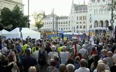Митинг в Будапеште.