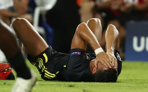 Cristiano Ronaldo pärast punase kaardi teenimist.