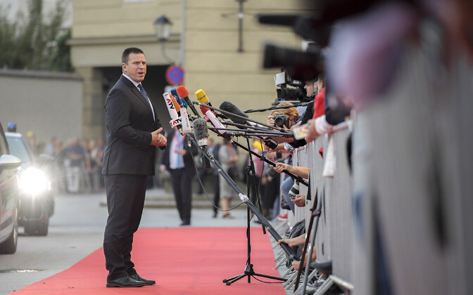 Prime Minister Jüri Ratas (Centre) arriving at the informal meeting of EU heads of state and government in Salzburg, Austria on Wednesday evening. 19 September 2018.